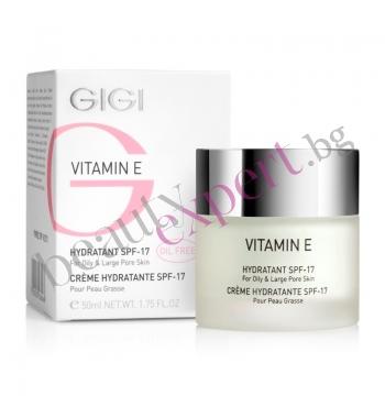 Крем за мазна кожа и широки пори GIGI - Vitamin E SPF 20