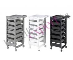 Italy - Компактна количка за фризьора с допълнителна поставка за аксесоари