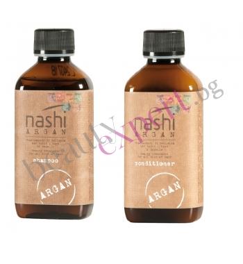 NASHI ARGAN - Промо пакет - Шампоан за коса + Балсам за коса с Арганово масло