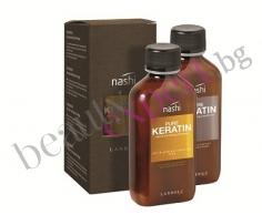 NASHI - Pure Keratin - Регенериращ и омекотяващ шампоан за коса + балсам за коса с кератин