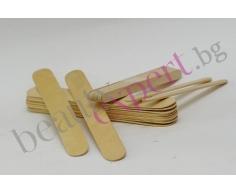 Дървени шпатули за кола маска  – 100 бр.