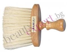 Четка за врат с естествен косъм и дървена дръжка