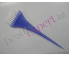 Четка за нанасяне на платине или боя в корените на косата - синя