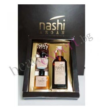 NASHI ARGAN - Масло от Арган за коса 100 мл. и мини сет шампоан + басам (2 х 30 мл.)