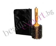 Професионална мега четка за коса с естествен косъм от глиган и пелерина за стайлинг