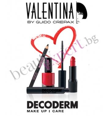 """DECODERM - VALENTINA - Специален подаръчен комплект грим в  """"Ярко Червено"""""""