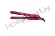 Iso Beauty - Spectrum Pro -  Преса за коса с дизайн розова зебра