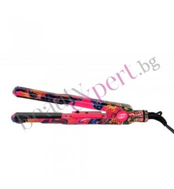 Iso Beauty - Spectrum Pro - Преса за коса с цветен дизайн (tatoo)