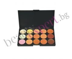 Make-Up - Палитра с 15 цвята коректор за очи