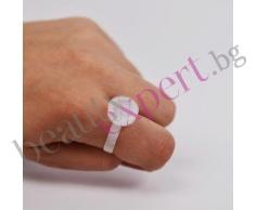 Пластмасов пръстен за пигмент за перманентен грим или за лепило за мигли косъм по косъм