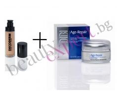 Комплект Age Repair - анти-ейдж крем за лице и шия + анти ейдж фон дьо тен