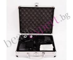 Машина за перманентен грим и алуминиев куфар. Цвят черно.
