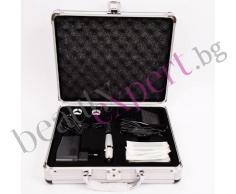 Машина за перманентен грим и алуминиев куфар. Цвят сребърно и черно.