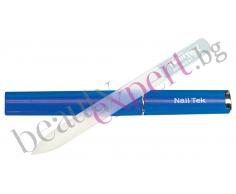 Nail Tek - Професионална стъклена пила - син цвят