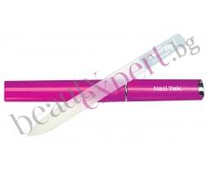 Nail Tek - Професионална стъклена пила - розов цвят