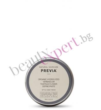 Previa - Органик  стайлинг вакса с цвят от лопен 100 мл